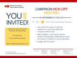 Kick Off Meeting Email Template Campaign Kick Off Meeting Details Maryland Campaign to