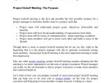 Kick Off Meeting Email Template Project Kickoff Meeting the Recipe for Success