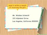 Kid Thank You Card Template How to Write A Thank You Note 9 Steps with Pictures Wikihow