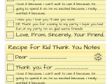 Kid Thank You Card Template How to Write the Most thoughtful Kid Thank You Notes