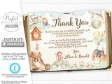 Kid Thank You Card Template Nursery Rhyme Baby Shower Thank You Card Mother Goose Thank