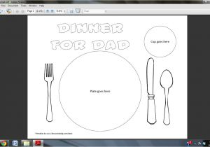 Kids Placemat Template 5 Best Images Of Printable Placemats for Preschoolers
