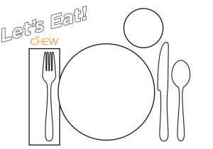 Kids Placemat Template 56 Table Setting Placemat 34 Wedding Placemats for Every