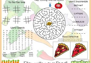 Kids Placemat Template southern Mom Loves Play with Your Food Printable Kids