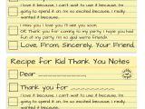 Kindergarten Thank You Card Ideas How to Write the Most thoughtful Kid Thank You Notes