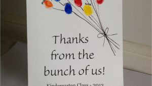 Kindergarten Thank You Card Ideas Teacher Appreciation Card From Class Louise with Images