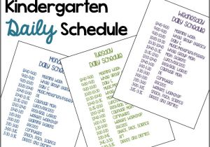 Kindergarten Timetable Template A Differentiated Kindergarten 39 S Daily Schedule