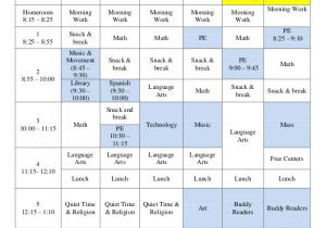 Kindergarten Timetable Template Class Schedule Template 36 Free Word Excel Documents