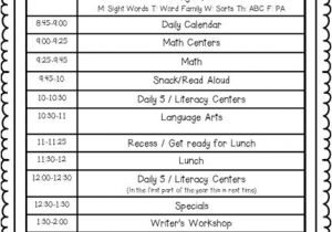 Kindergarten Timetable Template High School Class Schedule Template Trimestersmy Class