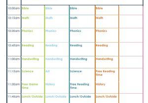 Kindergarten Timetable Template Kindergarten Daily Schedule Confessions Of A Homeschooler