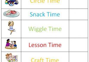 Kindergarten Timetable Template Preschool Schedule Template Schedule Template Free