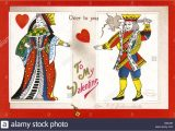 King Of Hearts Valentine Card A Playing Card Stock Photos A Playing Card Stock Images