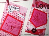 King Of Hearts Valentine Card Paper Crafts Meet Embroidery In This In the Hoop Valentine