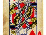 King Of Hearts Valentine Card Queen Of Hearts Card Vector Stockfotos Queen Of Hearts