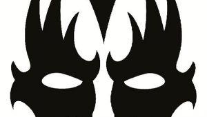 Kiss Mask Template Gene Simmons Kiss Makeup Stencil Bing Images Gene