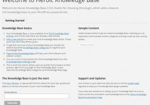 Knowledge Base Document Template Heroic Knowledge Base Plugin Documentation Herothemes