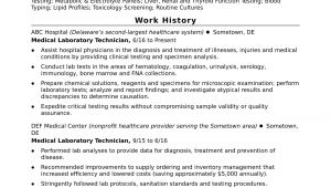 Lab Technician Resume Sample Entry Level Lab Technician Resume Sample Monster Com