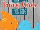 Lacing Card Templates Printable Lacing Cards for Kids