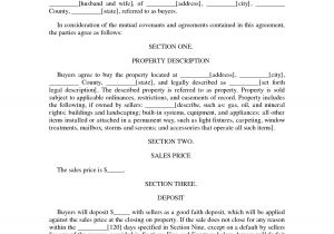 Land Contract Template Indiana Contract Of Sale Agreement Contract Of Sale Of