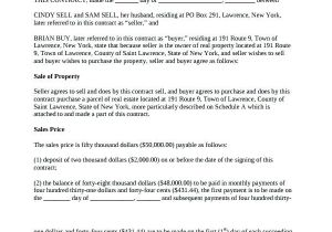 Land Contract Template Indiana Printable Land Contract form Gulflifa Co