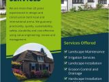 Landscaping Flyers Templates Free 16 Landscaping Flyers Free Psd Ai Eps Document