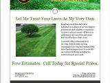 Landscaping Flyers Templates Free Mark S Lawn Care Business Flyer Lawn Care Business