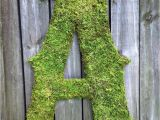 Large Moss Covered Letters Large Moss Covered Letter A Rustic Wedding by Vintageshore