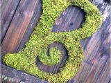 Large Moss Covered Letters Large Moss Covered Letter B Rustic Wedding Sign by