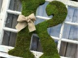 Large Moss Covered Letters Large Moss Covered Letter K Rustic Wedding Sign by