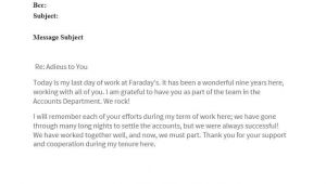 Last Day at Work Email Template 40 Farewell Email Templates to Coworkers ᐅ Template Lab