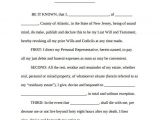 Last Will and Testament Free Template Maryland Blank Last Will and Testament Template Templates