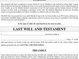 Last Will and Testament Template Ontario Last Will and Testament Template Ontario Free Template