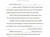 Last Wills and Testaments Free Templates 8 Sample Last Will and Testament forms Sample Templates