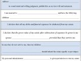 Last Wills and Testaments Free Templates Blank Last Will and Testament White Gold