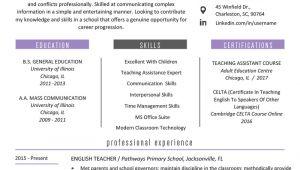 Latest Resume format for Teaching Job Teacher Resume Samples Writing Guide Resume Genius
