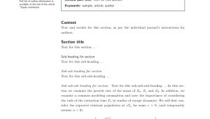 Latex Template for Springer Journals Latex Templates for Biomed Central F1000research Plos