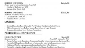 Law Student Resume Objective 7 Law School Resume Templates Prepping Your Resume for