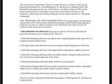 Lawn Contract Template Lawn Service Contract Template with Sample