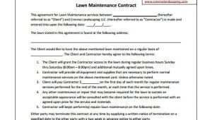 Lawn Service Contract Template 9 Lawn Service Contract Templates Free Word Pdf