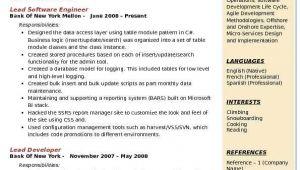Lead software Engineer Resume Lead software Engineer Resume Samples Qwikresume