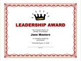Leadership Certificate Templates Word 8 Award Certificate Template Word Bookletemplate org