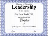 Leadership Certificate Templates Word Leadership Certificate Template 8 Free Word Pdf Psd