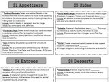 Learning Menu Template 1000 Images About Learning Menus On Pinterest Teaching