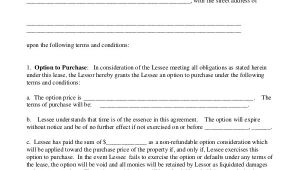 Lease with Option to Buy Contract Template 9 Lease Purchase Agreement Word Pdf Google Docs