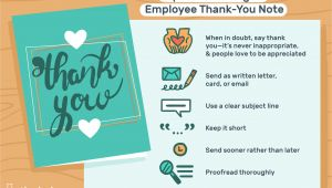 Leaving Work Thank You Card Employee Thank You Letter Examples