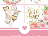 Lee S Flower and Card Shop Baby Shower Tischdeko Mit Hubschen Blumen Und Goldenem