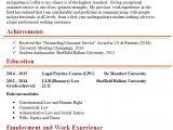 Legal Advisor Resume format Word Leeds University Cv Template