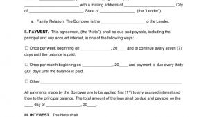 Lending Money to Family Contract Template Free Family Loan Agreement Template Pdf Word Eforms