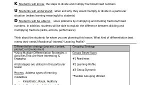Lesson Plan Template for Differentiated Instruction Differentiated Instruction Template 7 Free Word Pdf
