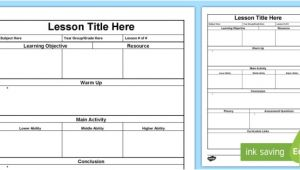 Lesson Plan Template Qld Lesson Plan Template Lesson Plan Australia Planning
